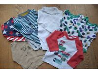 A bundle of baby boy clothes, Size 9-18 months