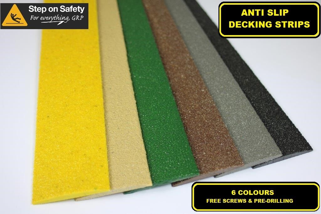 Anti Slip Decking Strips for Slippery Decking Walkways, Ramps & Paths