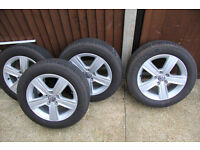 """VW """"Dover"""" alloys and tyres"""