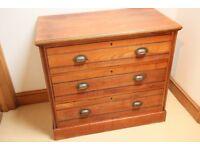 Antique Satin wood chest of drawers