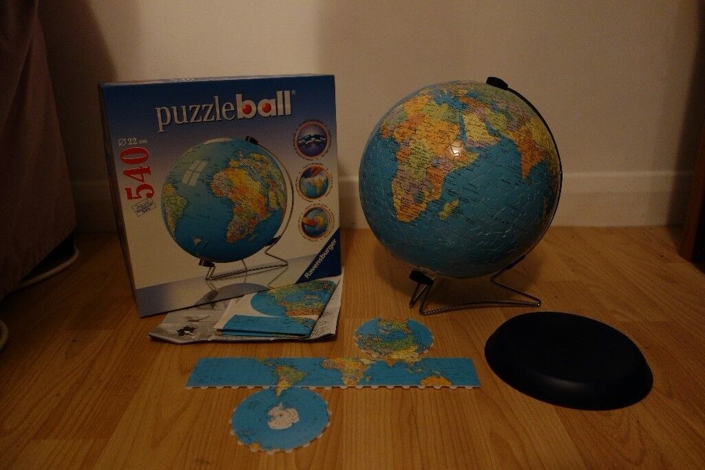 3d globe jigsaw puzzle ravensburger puzzleball world mapatlas 3d globe jigsaw puzzle ravensburger puzzleball world mapatlas 540 pieces like gumiabroncs Image collections