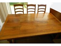 Flagstone table and six chairs