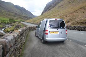 VW Tdi silver caddy, microcamper, van, camper