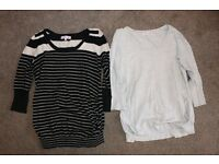 Maternity Clothes Size 10/M - 4 Trousers, 2 Dresses, 8 Tops