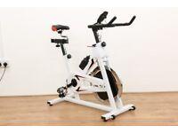 JLL IC300 White Indoor Cycling Bike - Ex Showroom