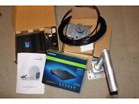 Tooway Broadband Satellite Dish, Modem and Router. New Unused.
