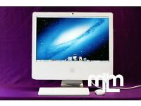 "17"" White Apple iMAC DESKTOP 1.83ghz 2gb 160GB ABLETON LIVE CUBASE 8 LOGIC PRO 9 MICROSOFT OFFICE"