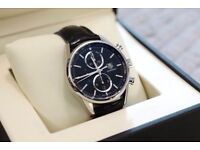 Tag Heuer 1887 Carrera Watch Automatic Chronograph leather strap Black 41mm CAR2110-4 £1699