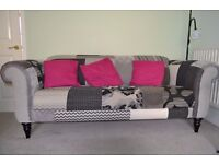 DFS QUANT PATCH SUITE comprising 3 seater (maxi), two seater (midi) and high back chair
