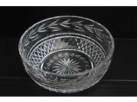 Large Vintage Waterford Crystal Bowl Irish Hand Cut Gothic Mark Cristal