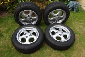 SET OF WHEELS & TYRES FOR MX-5 MK2 £100.00