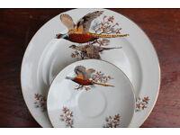 Vintage Pheasant Plate and Saucer Carrigaline Pottery Irish Bird Plate Decorative Plate Display