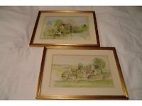FOUR LOVELY FRAMED COUNTRYSIDE/RURAL WATERCOLOUR PAINTINGS