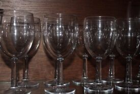 Set of 8 Short Wine Glasses