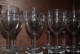Set of 8 Short Wine Glasses