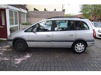 Vauxhall Zafira Design 1.8 petrol.