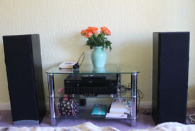 hi fi stereo acustic system Yamaha DSP-AX620 and 2x Wharfedale Speakers