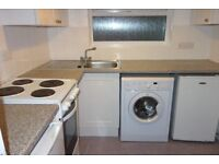 One bedroom studio flat with its own kitchen and shower room. New carpet and curtains.