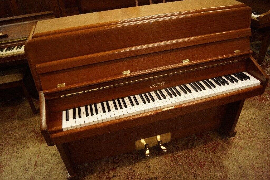 Knight K10 upright piano in mahogany - Tuned & UK delivery available