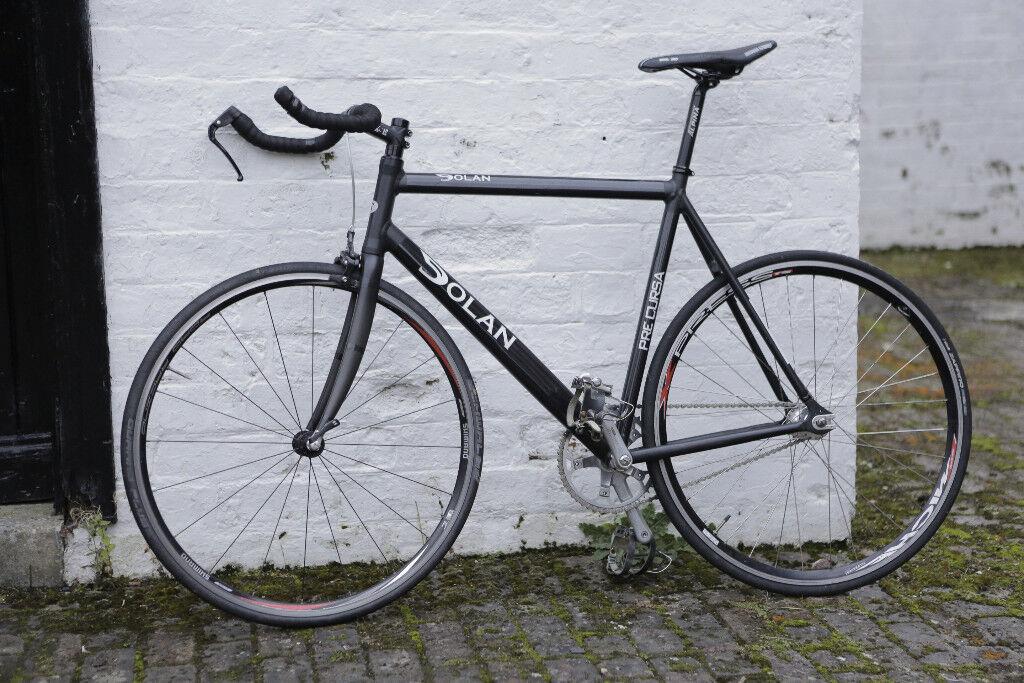 Dolan Pre Cursa Track Fixed gear bike bicycle black aluminium carbon ...