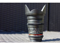 Walimex Pro (Samyang/Rokinon) 35mm T1.5 Video DSLR Canon EF black