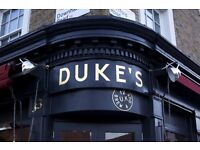 Experienced Waiter Required - Duke's Brew & Que (Haggerston)
