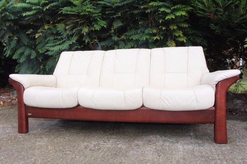 Designer EKORNES STRESSLESS 3 seater sofa