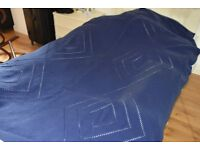 Cozy blue blanket - perfect for a cold winter evening on the sofa