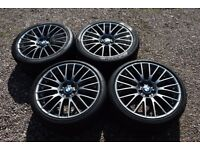"Genuine BMW 20"" Style 312 5 6 Series F10 F12 Alloy Wheels Staggered Grey Tyres Refurbished in Grey"