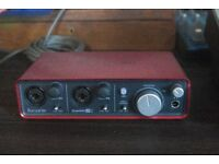 * Focusrite Scarlett 2i2 audio interface