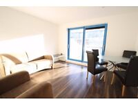 A furnished 1 bed flat on the 7th floor of this sought after development, very short walk to station