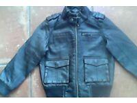 Next boy Brown Leather jacket