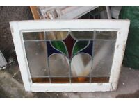 Stained Glass windows in wooden frames