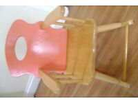 CHILDS SOLID WOODEN ROCKING CHAIR