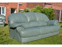 5 Seat Set of Leather 3-Seater Sofa and and 2-single Seater Armchairs