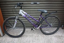 Ladies Raleigh Mountain Bike. 18 speed, hardly used.
