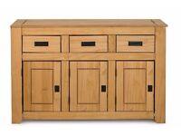 Brand New Solid Pine Natural Colour Large 3 door Sideboard 2 door Sideboard 1 door Bookcase Wood