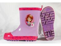 Sofia the First, Girls Rubber Boots size UK9