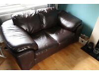 Nuovo Pelle Brown Leather Two seater Sofa