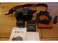 CANON EOS 7D MARKII with lens