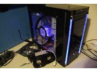 Custom Desktop Gaming PC AMD Quad Core 4.20GHz, GTX650 Ti, 8GB RAM, 1TB w/ Speakers, USB Hub, Driver