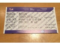 Genuine 4 x Matilda Theatre Tickets London