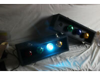 Sound Lab Disco DJ Lights for sale -- Hard Case -- Great for Birthdays Parties Events etc
