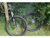 """***£200 ONO*** 26"""" jump bike wheels and forks marazocchi/ hope / shimano"""