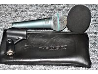 Shure Beta Microphone 58A,Zip Case Mic Holder & Windsheild