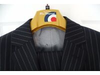 Fantastic men's Ben Sherman black with grey pin stripe suit as new as worn twice, 44 long + 38 long