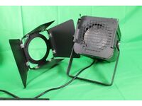 500w fresnel theatre stage light, barn door, colour frame, lamp, drama, school, hall, lighting