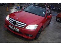 2011 Mercedes Benz C220 AMG Sport CDI A Blue Efficiency Red Panoramic Roof 65,000 miles