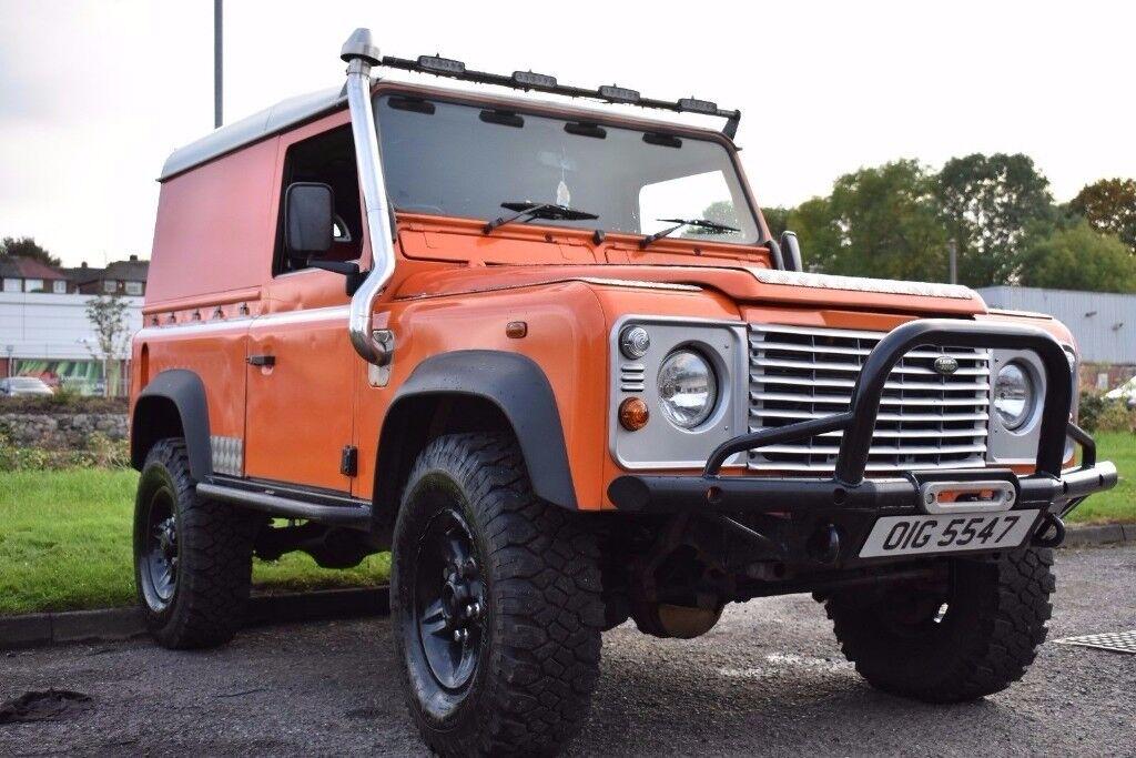 land rover defender 90 g4 orange style td5 2 5 engine not. Black Bedroom Furniture Sets. Home Design Ideas
