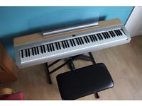 Yamaha P140 Digital Stage Piano with Stool Stand and Sustain Pedal